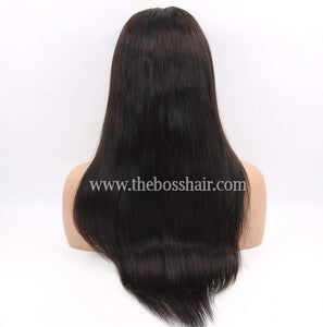 "20"" Front Lace Closed Cap STRAIGHT 150% Density"