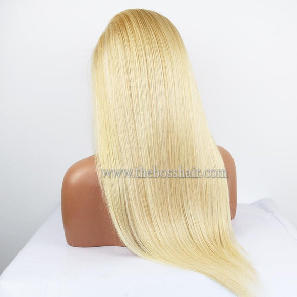 "PLATINUM GRADE HAIR 13X6 Frontal Lace Wig 22"" Straight #613 150% Density"
