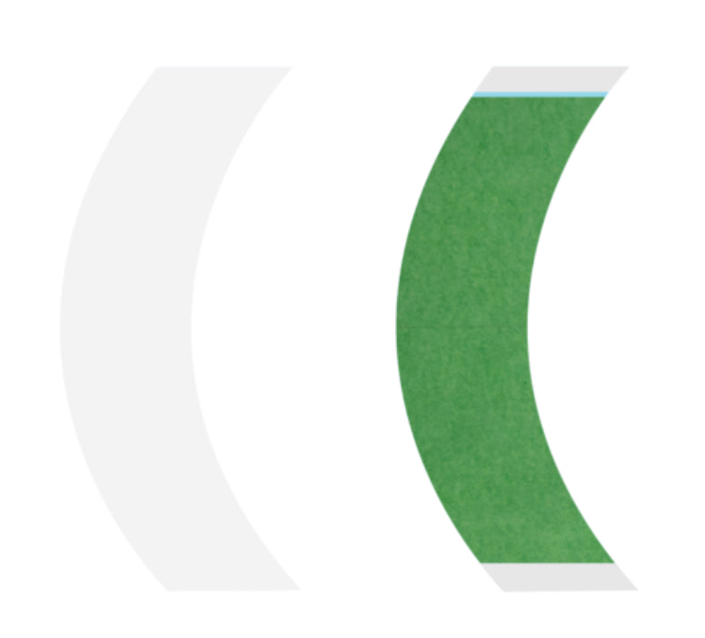 "EASY GREEN TAPE CONTOURS (Curve Strips)  1""x 3"" - 25 pc bag"