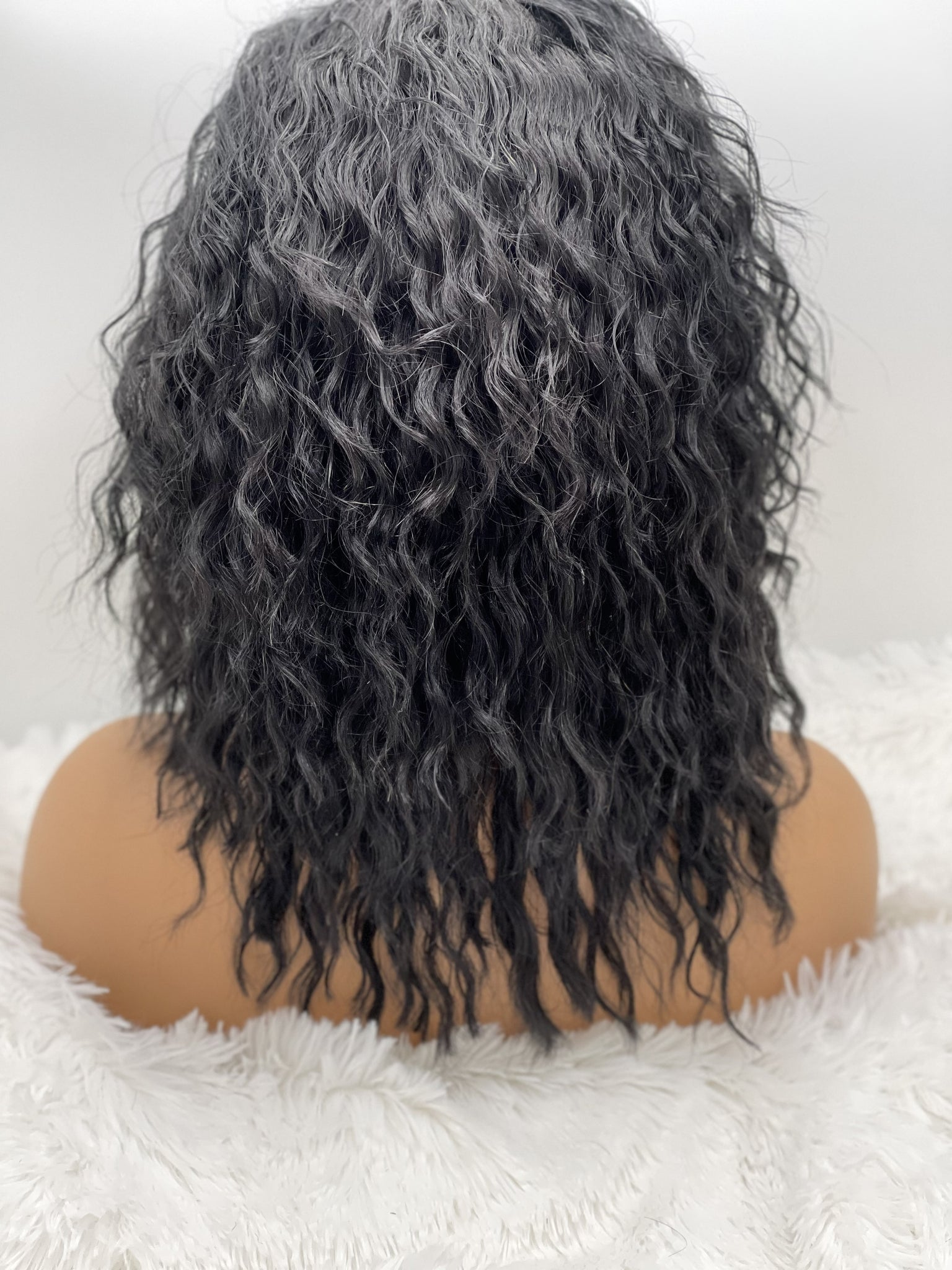 "12"" 13x3  Wavy Lace Wig (jet black hair)"