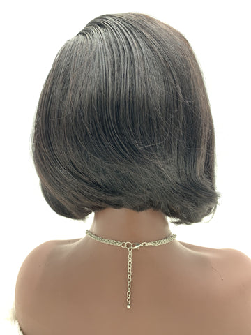 "-Make a Selection- Swinging Bobs 10""-12"" 13x4 Frontal Lace Wigs - Natural Color"