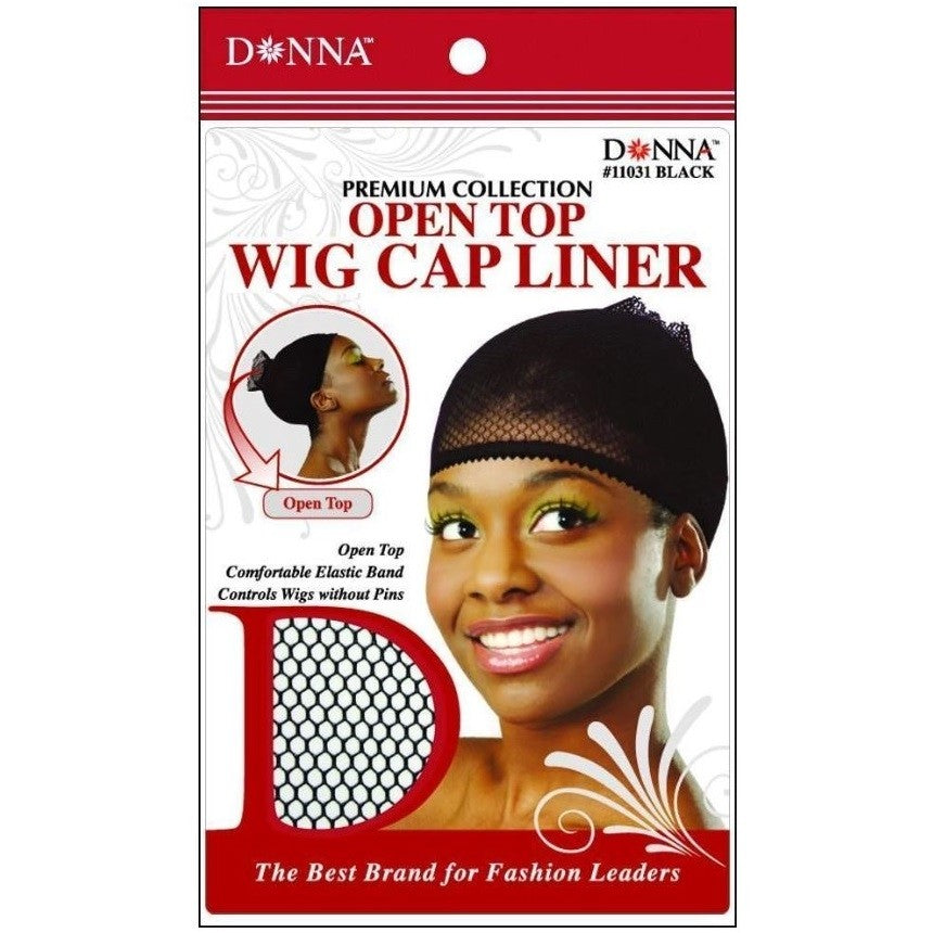 Open Top Wig Cap Liner, Comfortable Elastic Band, Controls Wigs without Pins
