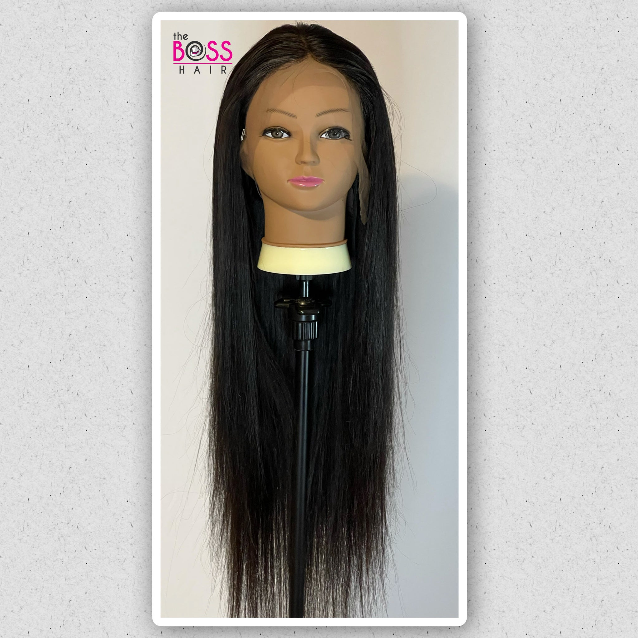 "26"" PLATINUM GRADE HAIR 13x4 Frontal with Bundles Lace Wig  - Straight 180% Density"