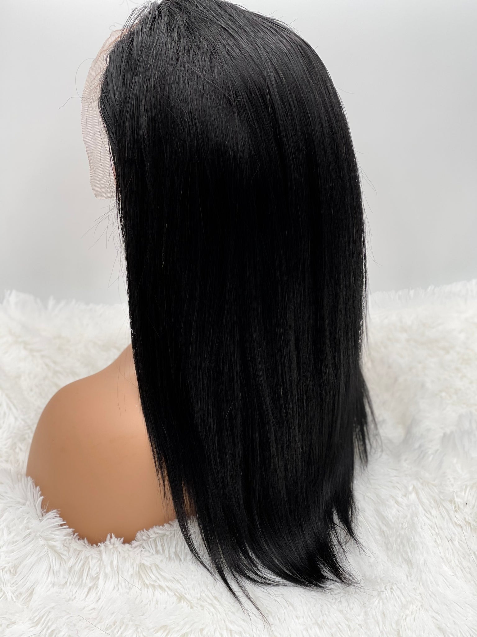"16"" Straight 13x3 Frontal Lace Wig #1 (Jet Black Hair)"