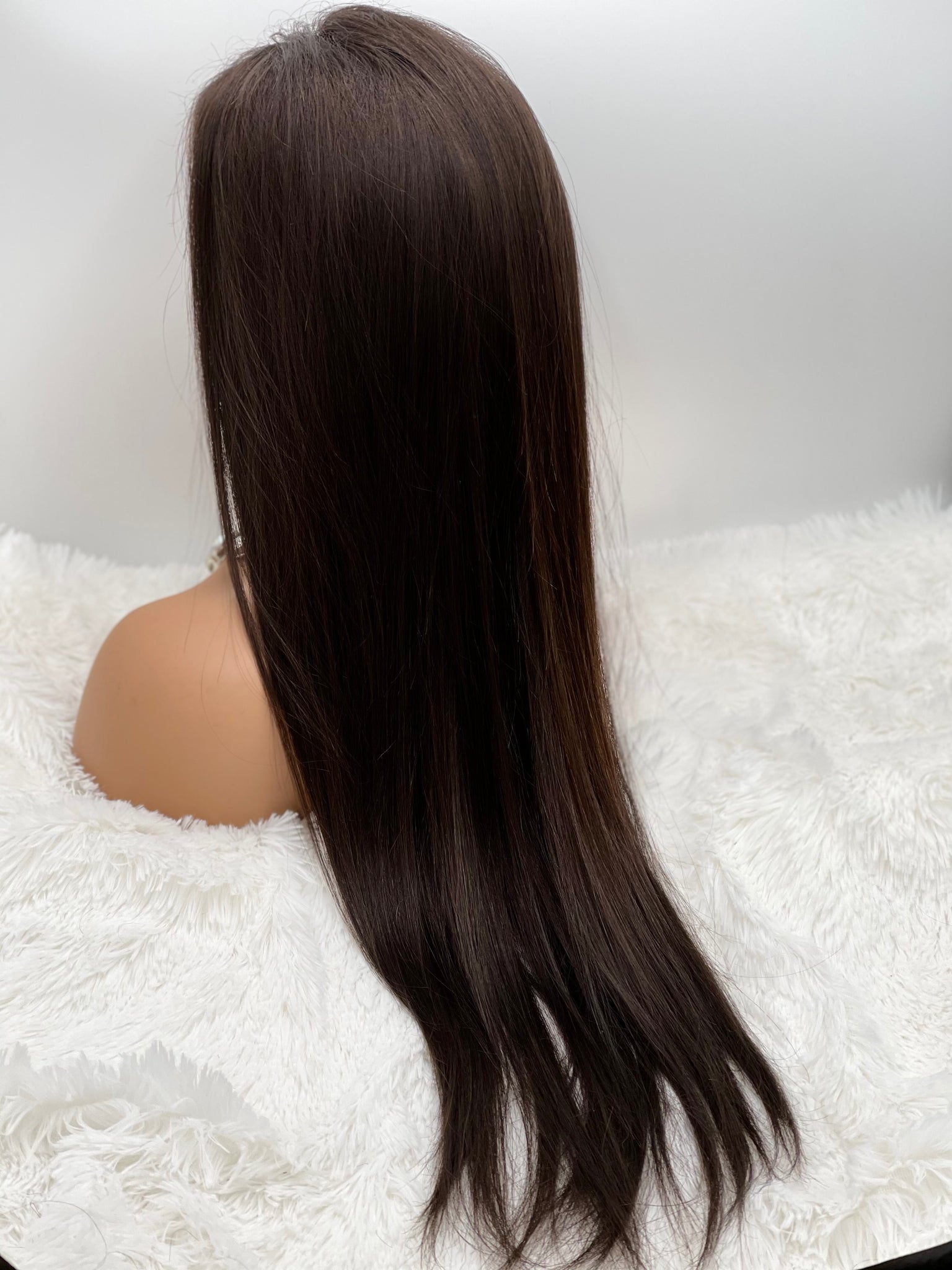"28"" Straight 13x3 Frontal Lace Wig, Natural Color Hair"
