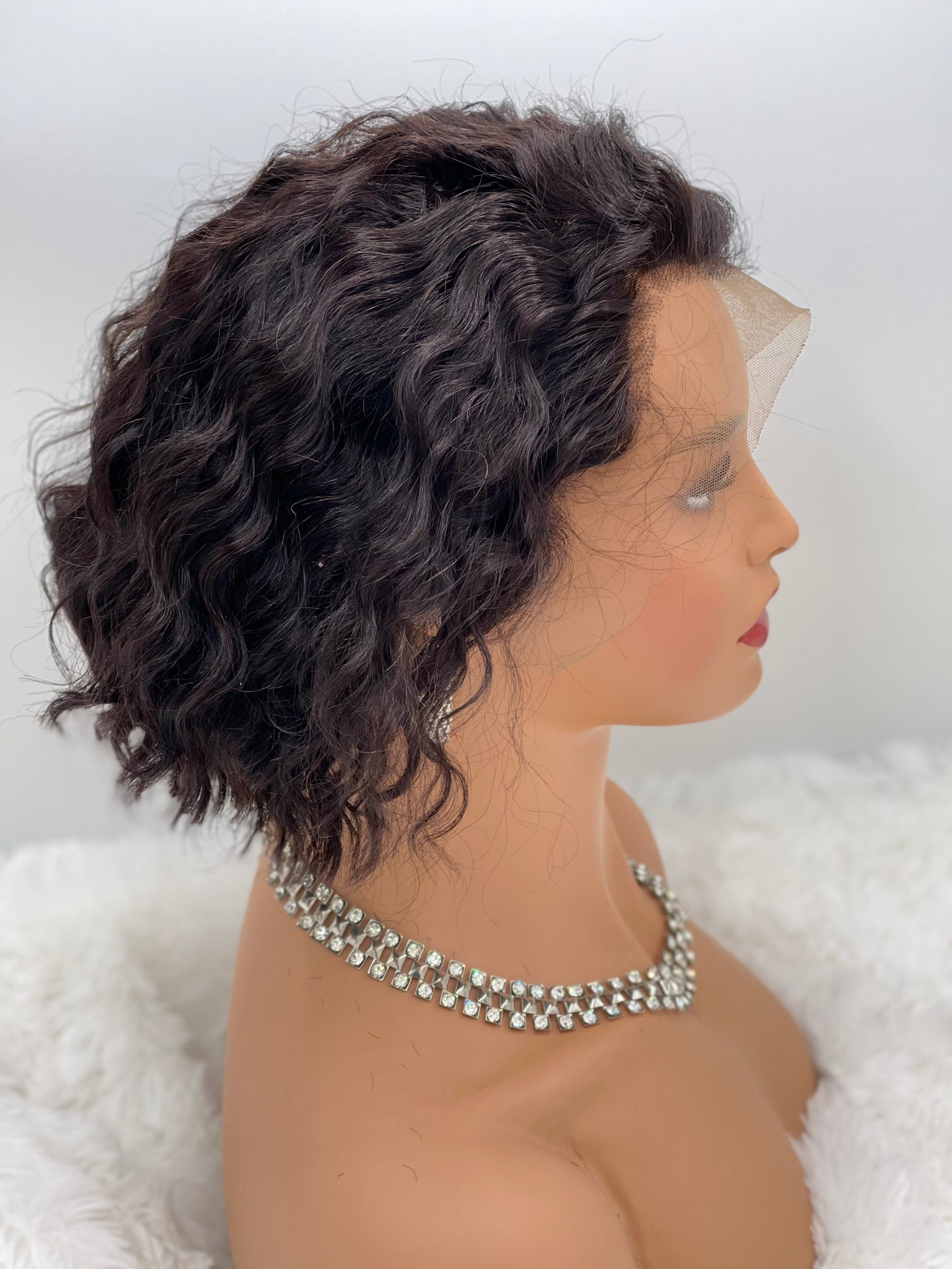 "12"" Deep Wave - Bob Lace Wig"