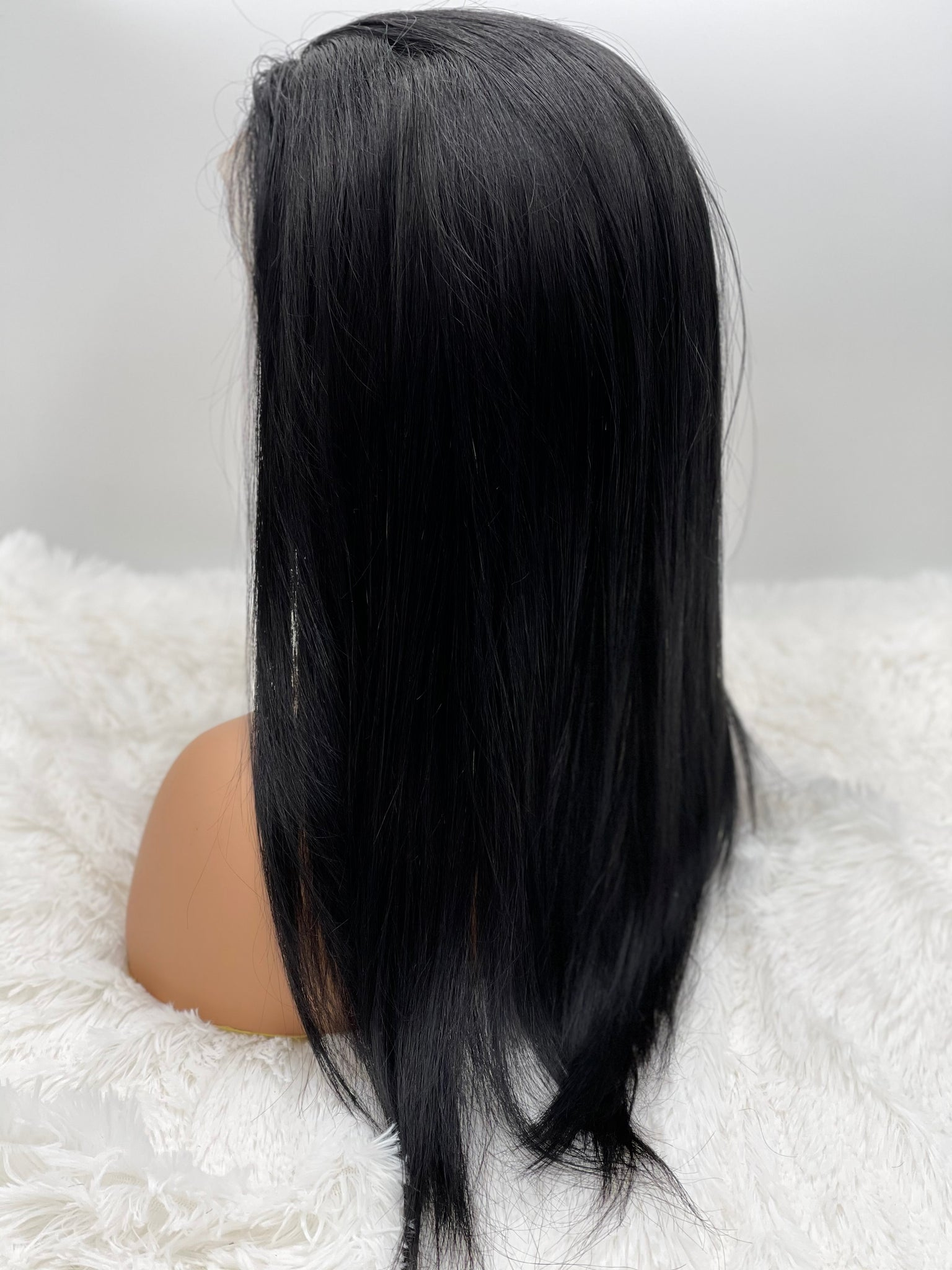 "18"" Straight 13x3 Frontal Lace Wig #1 (Jet Black Hair)"