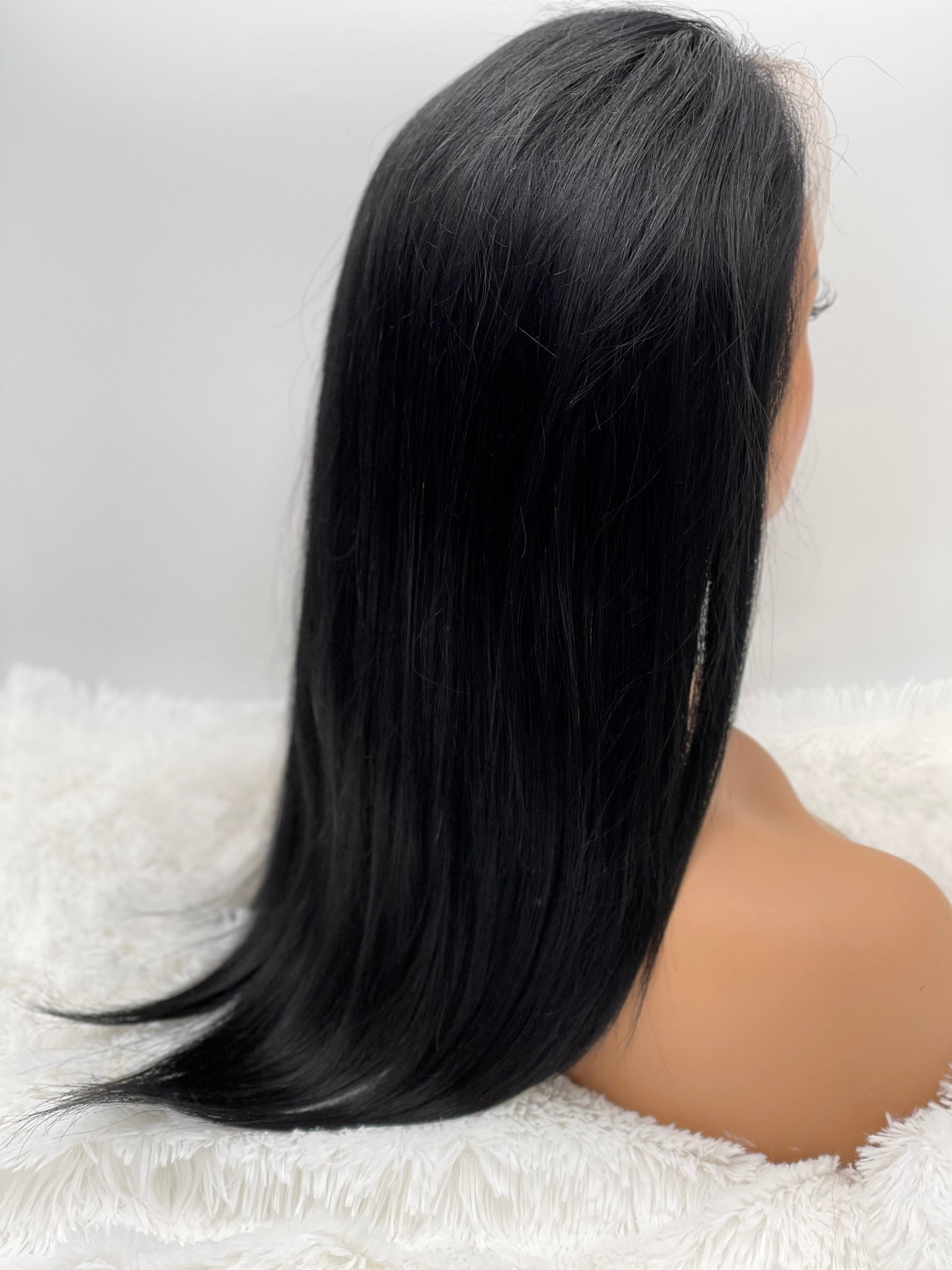 "14"" Straight 13x3 Frontal Lace Wig #1 (Jet Black Hair)"