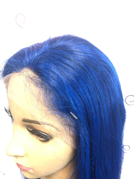 "24"" Straight - 360 Lace Wig  #Blue"