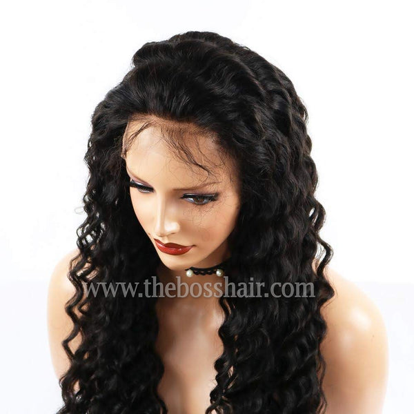 -Make a Selection - Full Lace Wigs Virgin Hair - Deep Wave 150% Density