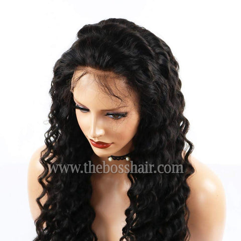 "PLATINUM GRADE HAIR Full Lace 24"" Deep Wave 150% Density"