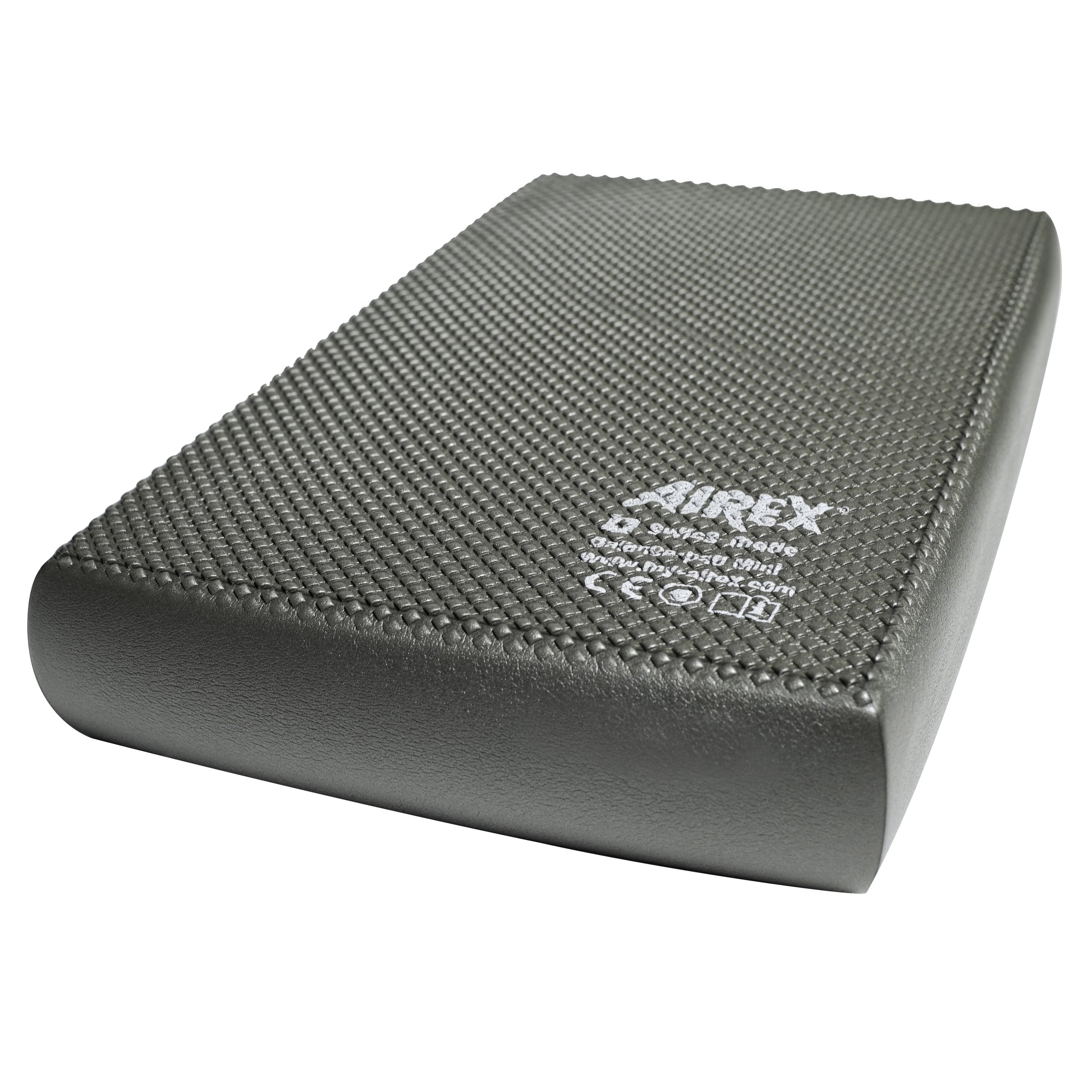 "The Airex® Balance Pad Mini has a smooth surface and small shape, making it ideal for single-handed or one-legged exercises. Due to the yielding foam, you will constantly be challenged to maintain balance and stabilize your joints, improving over time and building strength. This pad is also great for balance, mobility, standing stability and motor-skill training. Airex® Balance Pad Mini Features: Smooth surface and small design Ideal for single-handed and one-legged exercises Improves joint stability and builds strength Dimensions: Approximately 16.14""L x 9.84""W x 2.36""H (6cm thick) Care instructions: Spot treat with a soft brush and warm soapy water. Air dry. Do not use solvents, stain remover, hot steam or water. Best stored flat. To avoid pressure, do not store any objects on top of them. Avoid storing in direct sunlight for long periods of time for the mat will become brittle and stiff over time."