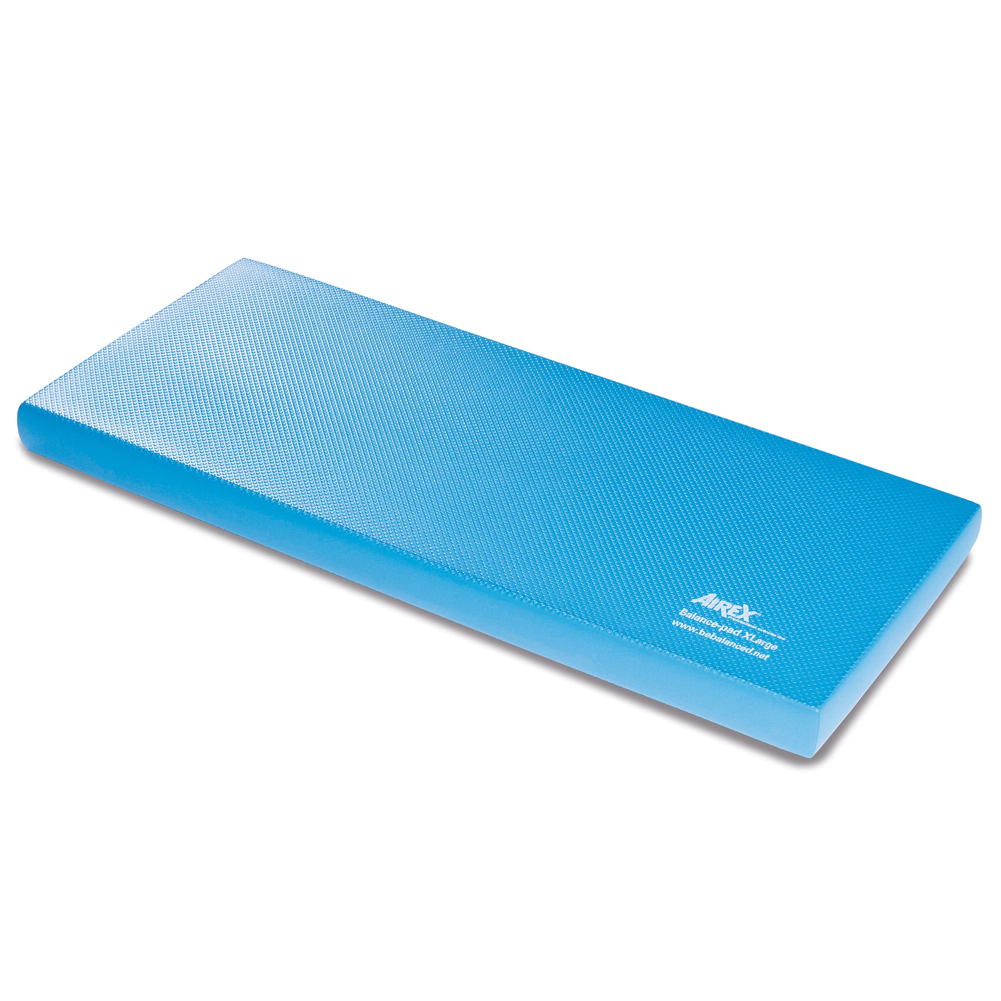 "The Airex® Balance Pad XL is twice as large as other balance pads, offering more surface area to increase your exercise options. Great for balance, mobility, standing stability and motor-skill training, this balance pad will improve joint stability through moderate instability. Includes a free downloadable exercise guide. Airex® Balance Pad XL Features: Twice as large as other balance pads More surface area for more exercise options Improve joint stability Includes downloadable exercise guide Dimensions: Approximately 38.6""L x 16.1""W x 2.4""H (6cm thick); 3.1 lbs. Care instructions: Spot treat with a soft brush and warm soapy water. Air dry. Do not use solvents, stain remover, hot steam or water. Best stored flat. To avoid pressure, do not store any objects on top of them. Avoid storing in direct sunlight for long periods of time for the mat will become brittle and stiff over time. Airex Balance Pad Exercise Guide"