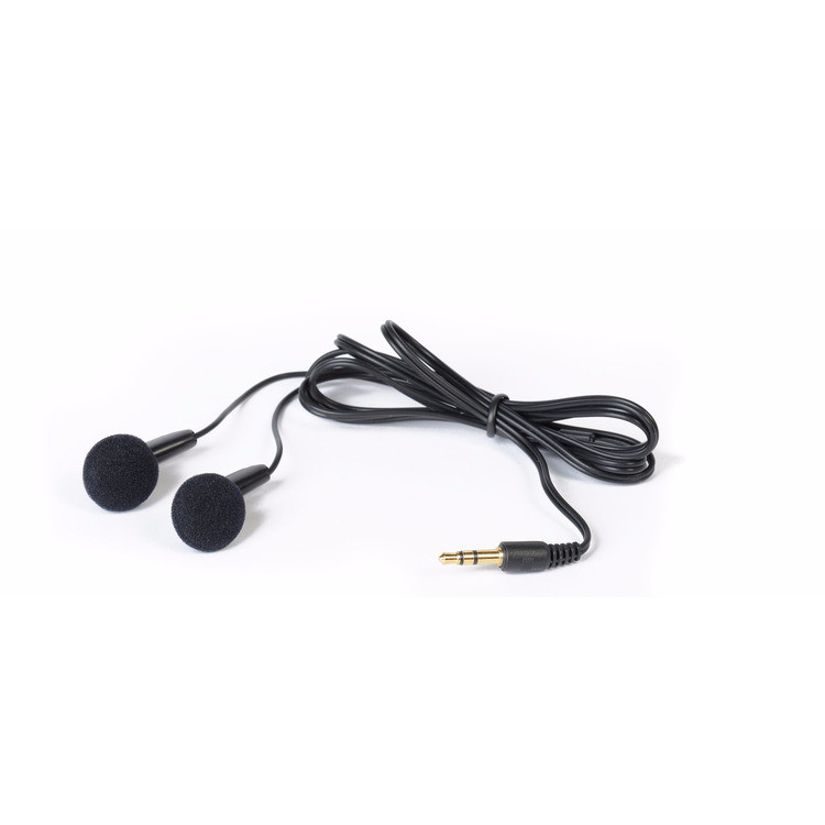 Ultra Lightweight, Earbuds are in-ear, disposable, stereo headphones for listening 'on the move'. Very lightweight and comfortable. *Please note that these are only available in packs of 50.