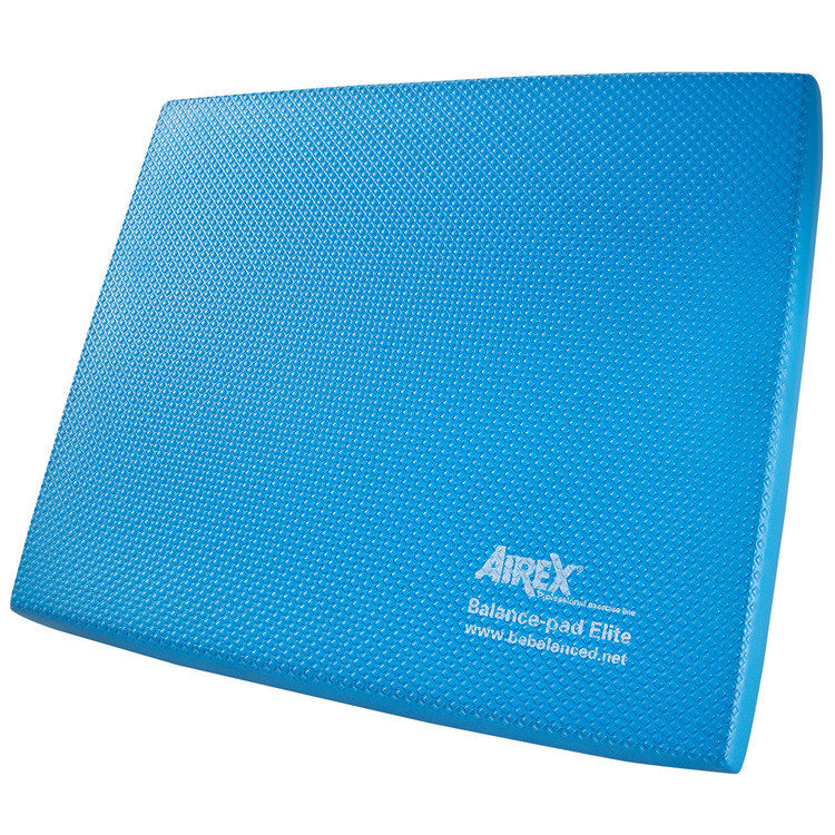 "The Airex® Balance Pad Elite has a special waffle texture, making this pad slip-resistant to keep you in place during your balance training exercises. The Balance Pad Elite is great for balance, mobility, standing stability and motor-skill training, improving joint stability through moderate instability. Available in two colors, sold separately. Includes a free downloadable exercise guide. Airex® Balance Pad Elite Features: No-slip waffle texture Improves joint stability over time Available in two colors Downloadable exercise guide Dimensions: Approximately 19.7""L x 16.1""W x 2.4""H (6cm thick) Care instructions: Spot treat with a soft brush and warm soapy water. Air dry. Do not use solvents, stain remover, hot steam or water. Best stored flat. To avoid pressure, do not store any objects on top of them. Avoid storing in direct sunlight for long periods of time for the mat will become brittle and stiff over time. Balance Pad Exercise Guide"