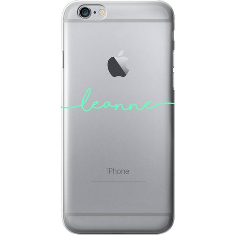 Clear Case - Handwritten Name