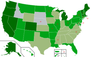U.S. States with Legal Recreational Weed