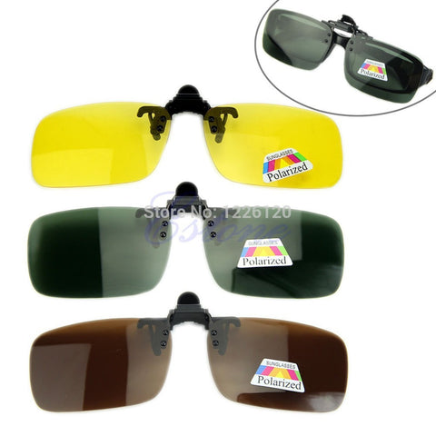 a8a8dbf3233 Prime Quality Day Or Night Vision Polarized Clip-on Flip-up Sunglasses
