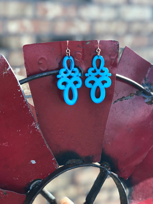 Infinity Earrings Blue
