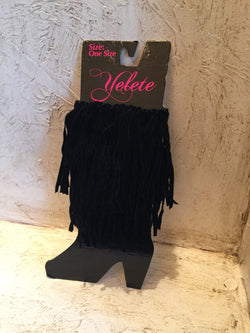 Fringe Boot Toppers Black