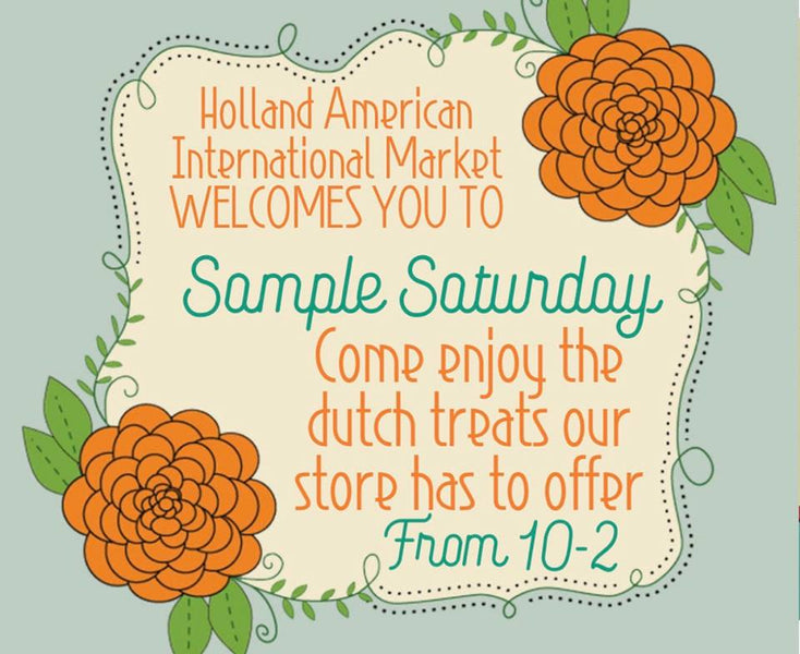 Sample Saturdays!!