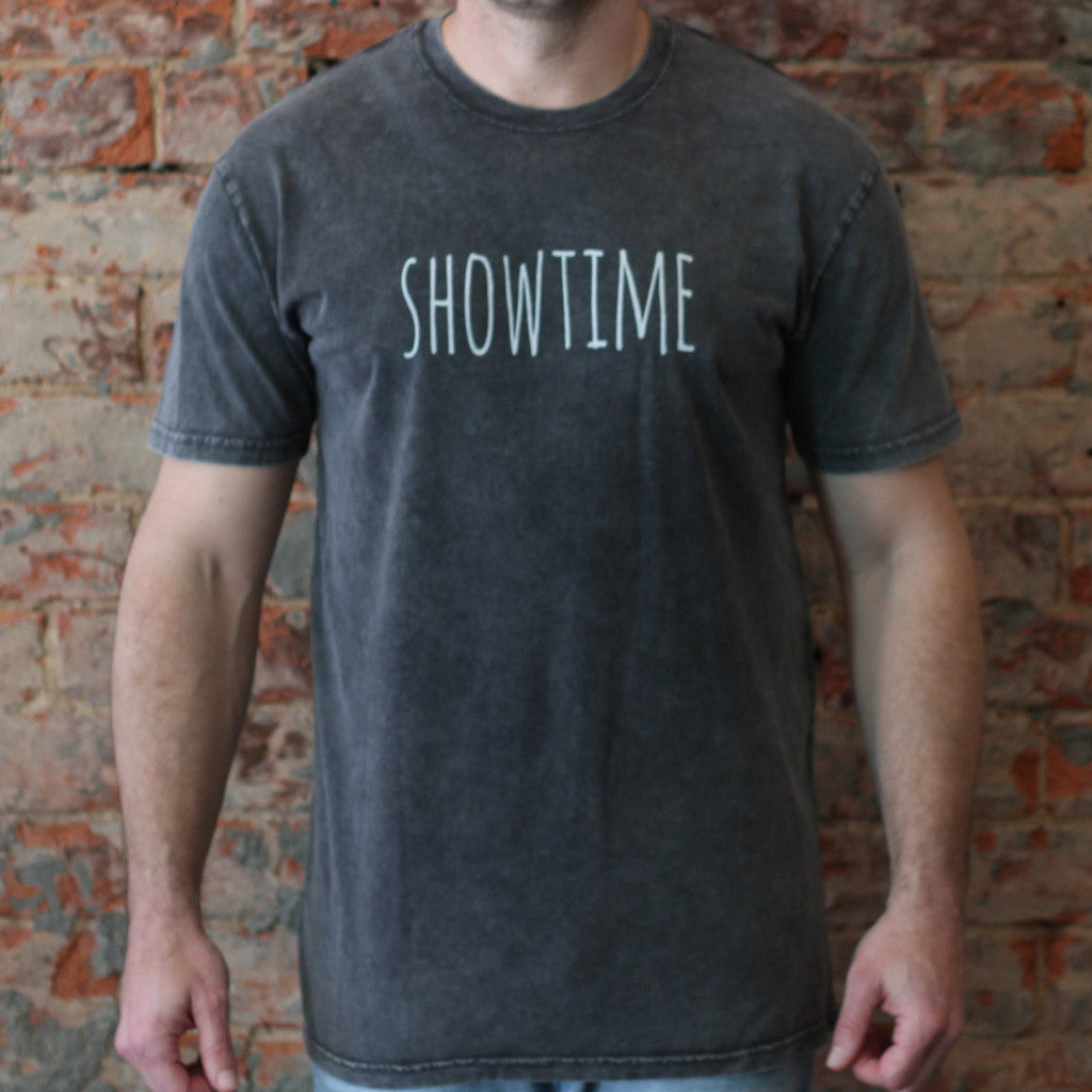 SHOWTIME T Stonewash Black