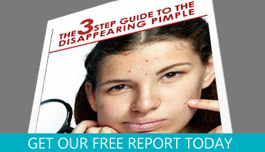 "Get Your Free Copy Now!  ""3 Step Guide To The Disappearing Pimple"""