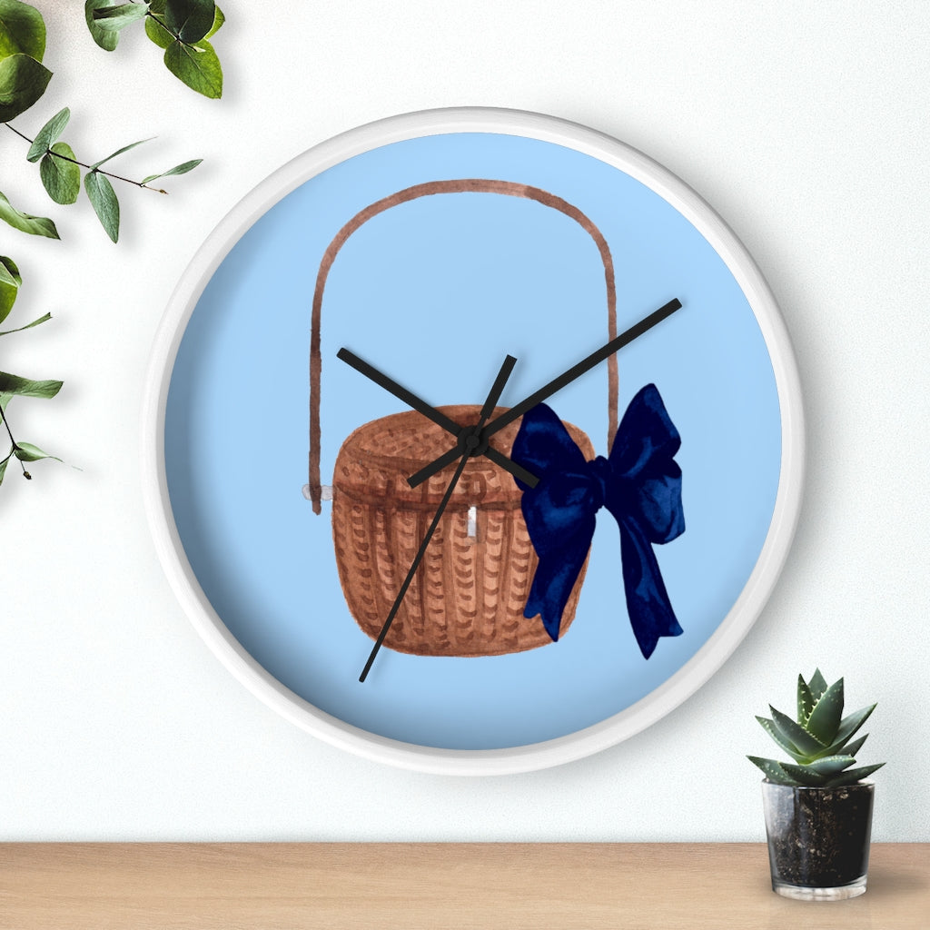 Nantucket Basket Wall Clock