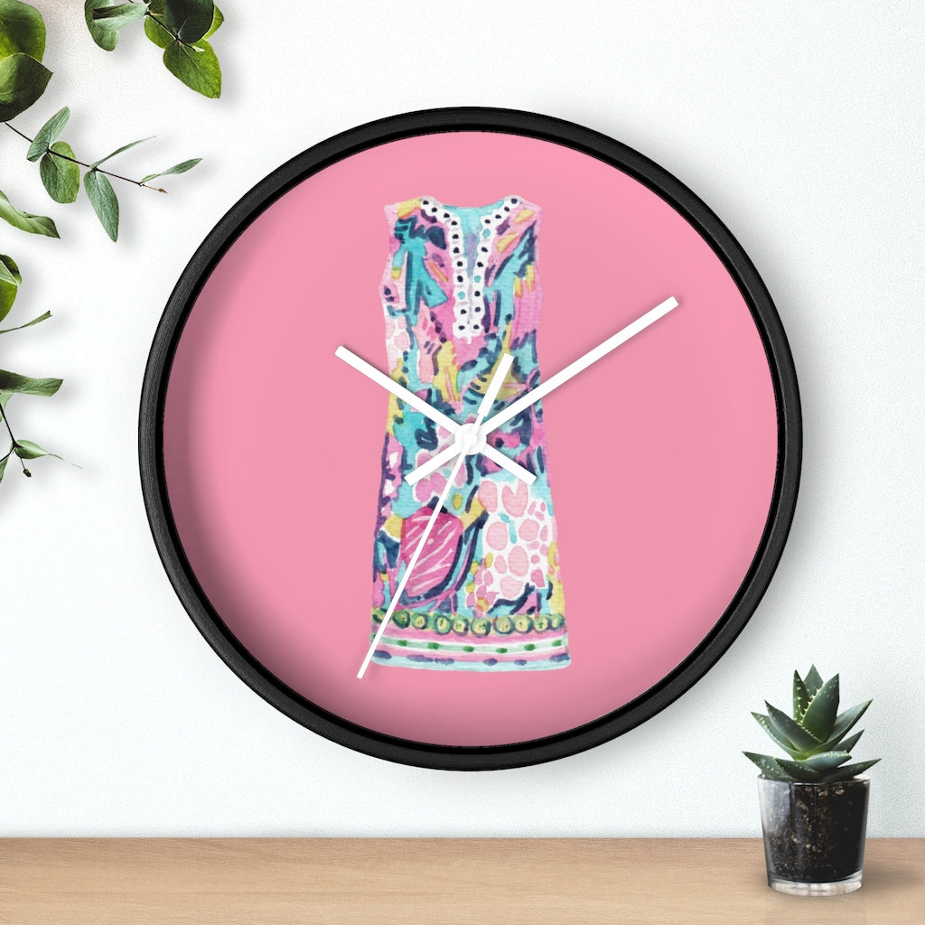 Summer Shift Dress Wall Clock