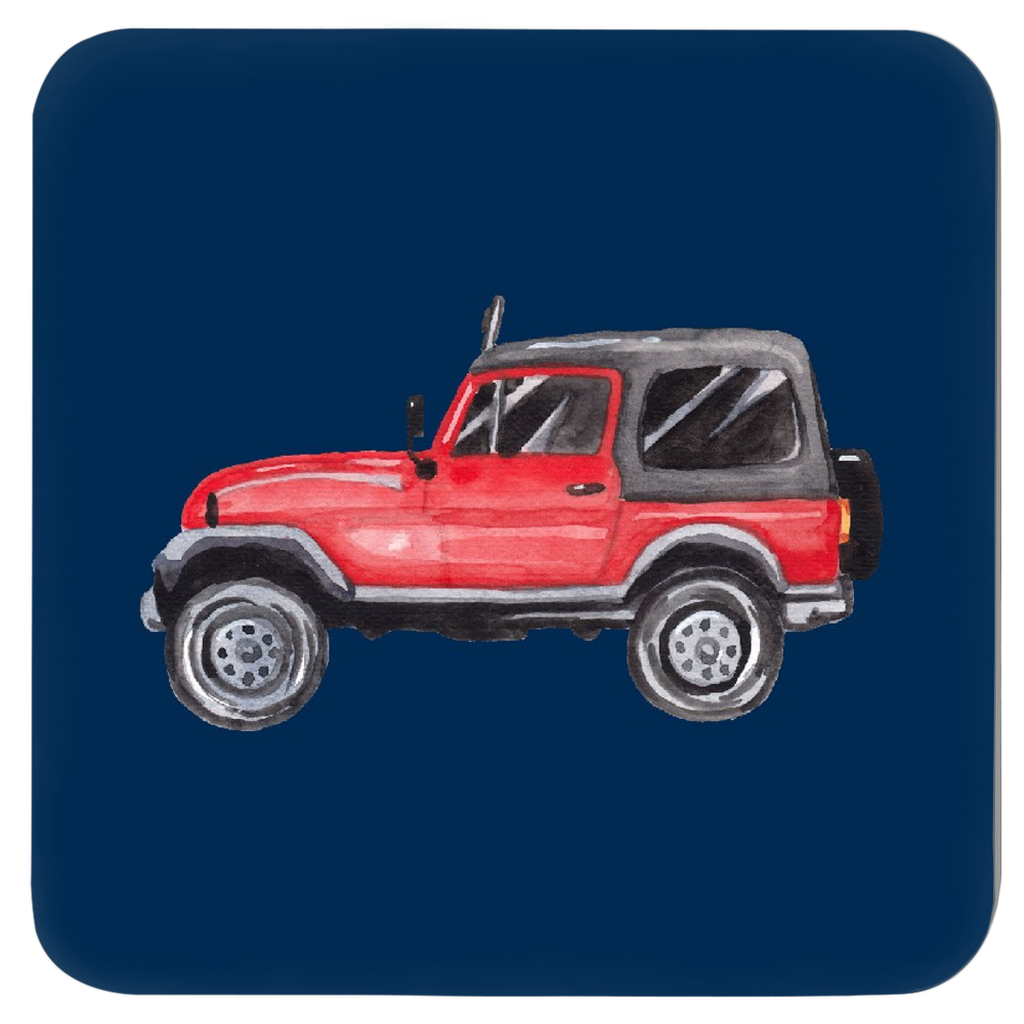 Jeep Life Coasters - Set of Four Assorted Colors