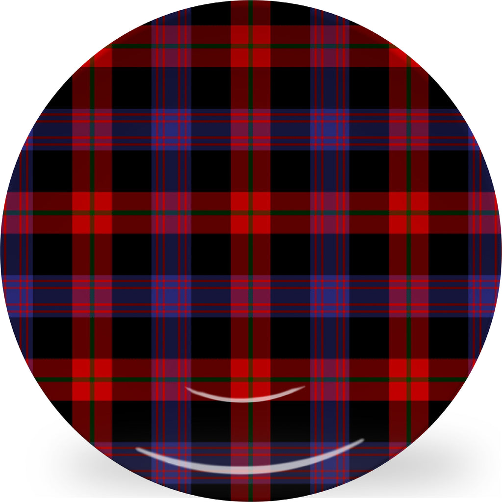 Luxury Brown Tartan ThermoSāf® Plate, Platter And Bowl With Optional Monogram - Oven Safe, Microwave Safe, Dishwasher Safe, BPA Free!