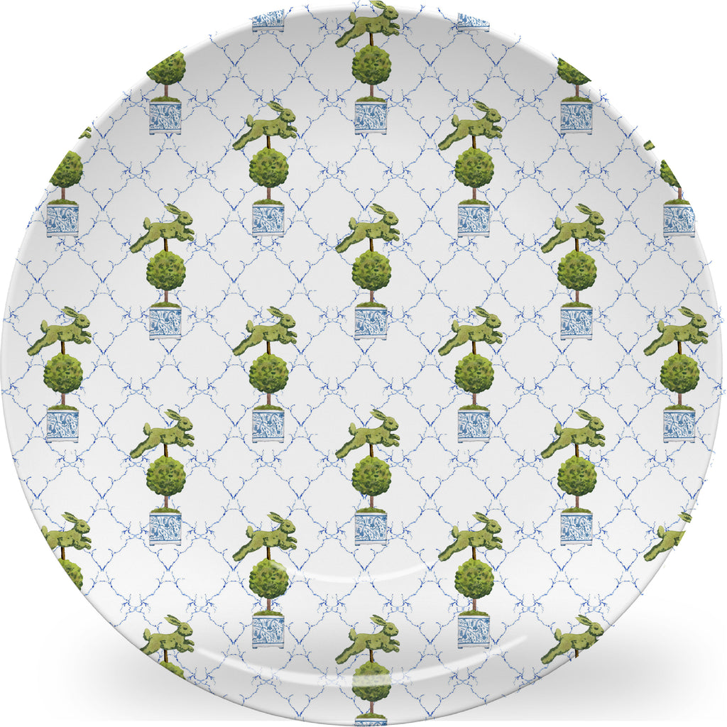 Luxury Lettuce Bunny Hop ThermoSāf® Plate, Platter And Bowl - Oven Safe, Microwave Safe, Dishwasher Safe, BPA Free!