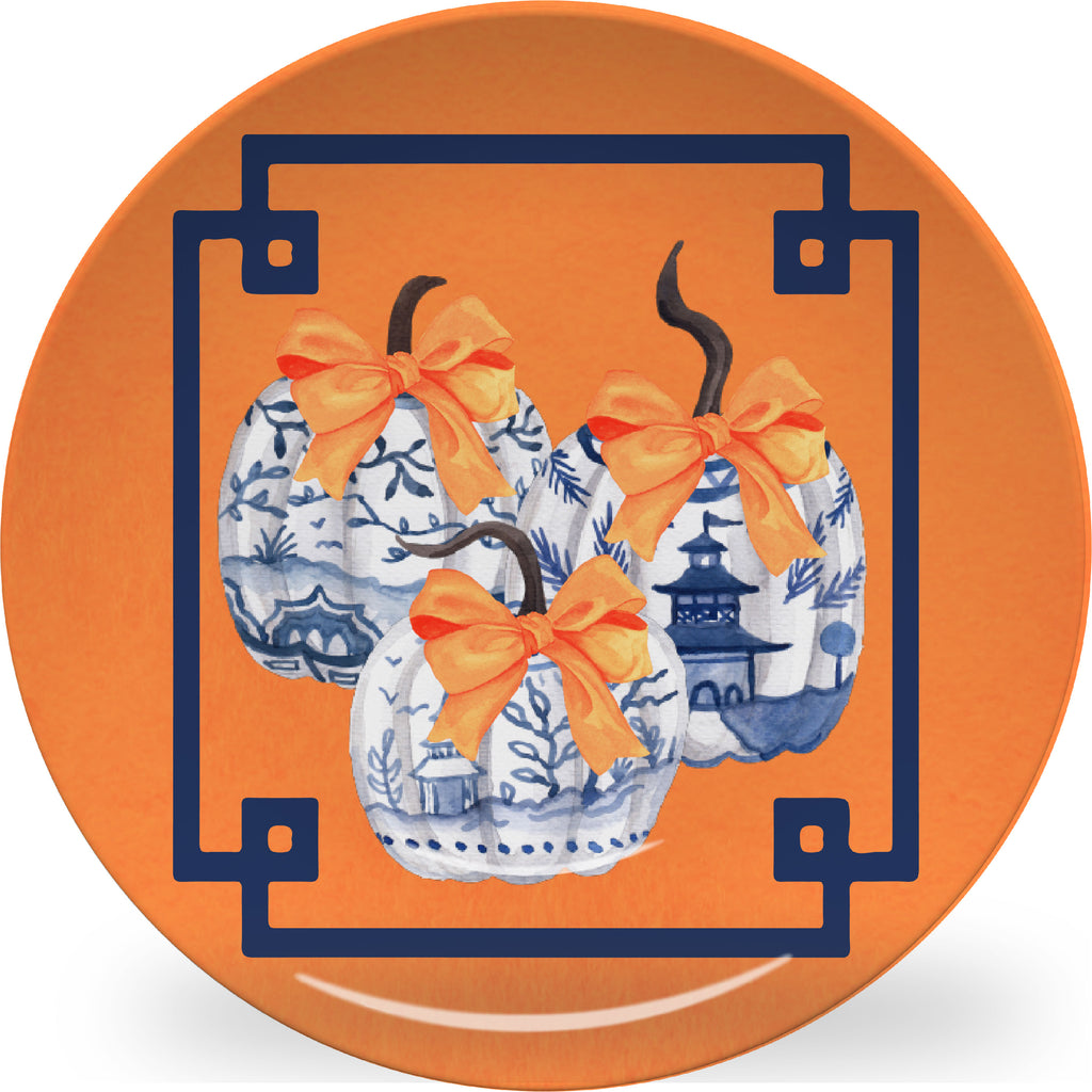 Luxury Chinoiserie Pumpkins ThermoSāf® Platter - Oven Safe, Microwave Safe, Dishwasher Safe, BPA Free!