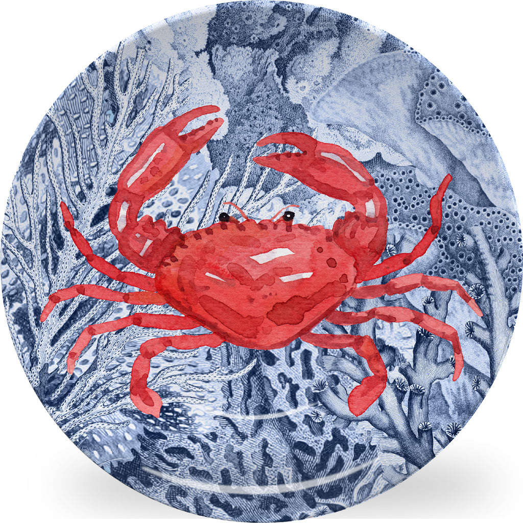 Luxury Hiding Crab ThermoSāf® Plate, Platter And Bowl - Oven Safe, Microwave Safe, Dishwasher Safe, BPA Free!