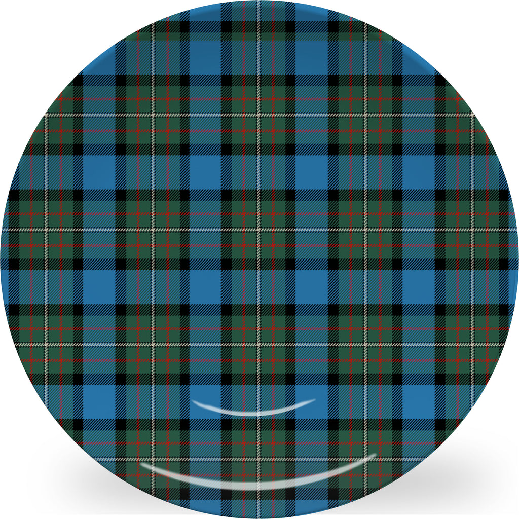 Luxury Fergusson Tartan Plaid ThermoSāf® Plate And Platter With Optional Monogram - Oven Safe, Microwave Safe, Dishwasher Safe, BPA Free!