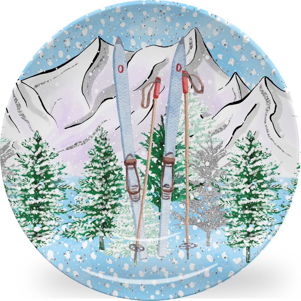 Skiing Plate