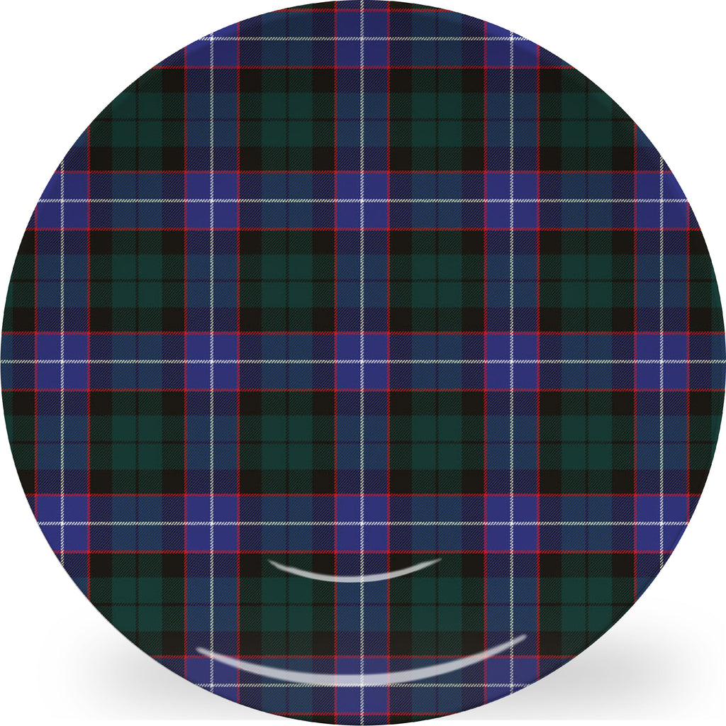 Luxury Hunter Tartan Plaid ThermoSāf® Plate And Platter With Optional Monogram - Oven Safe, Microwave Safe, Dishwasher Safe, BPA Free!