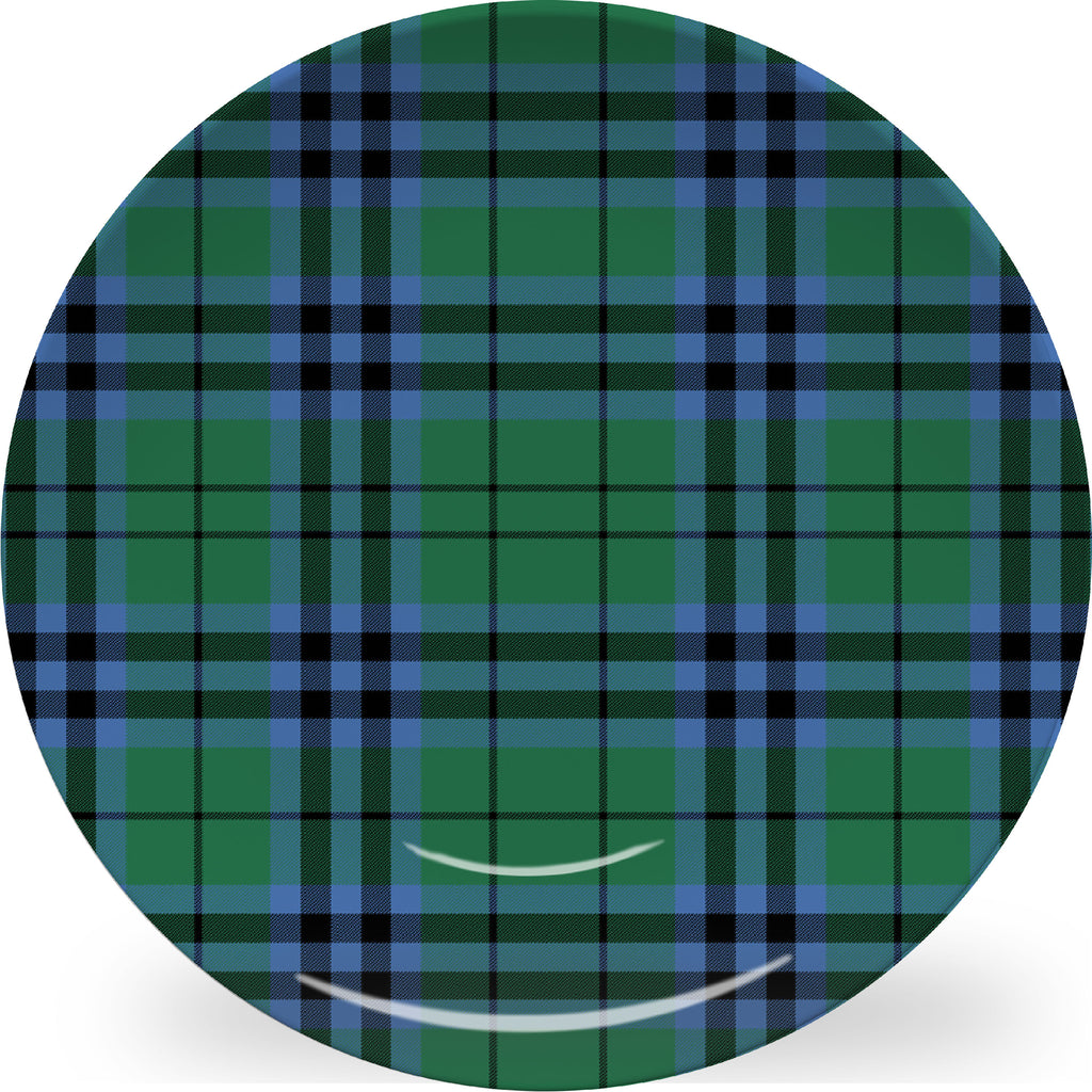 Luxury Keith Tartan Plaid ThermoSāf® Plate, Platter And Bowl With Optional Monogram - Oven Safe, Microwave Safe, Dishwasher Safe, BPA Free!