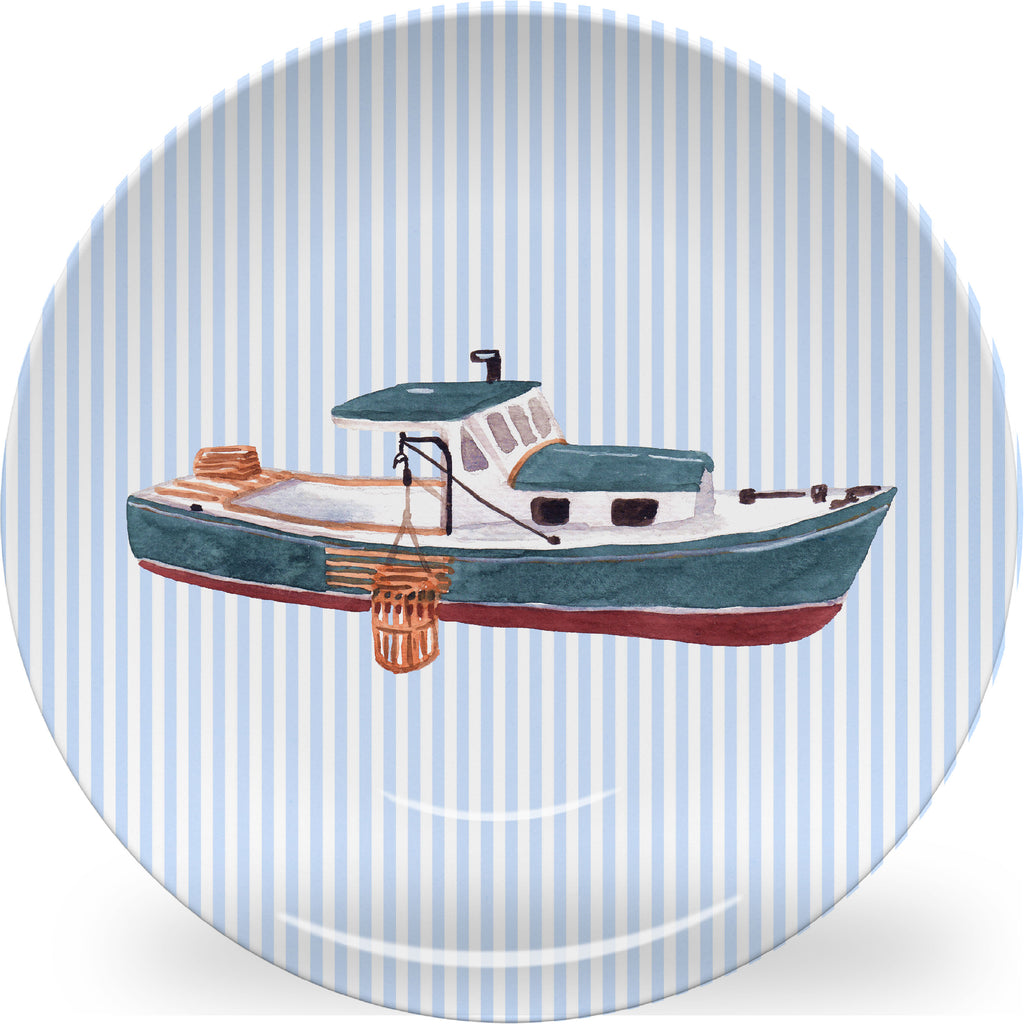 Luxury Lobster Boat ThermoSāf® Plate, Platter And Bowl - Oven Safe, Microwave Safe, Dishwasher Safe, BPA Free!
