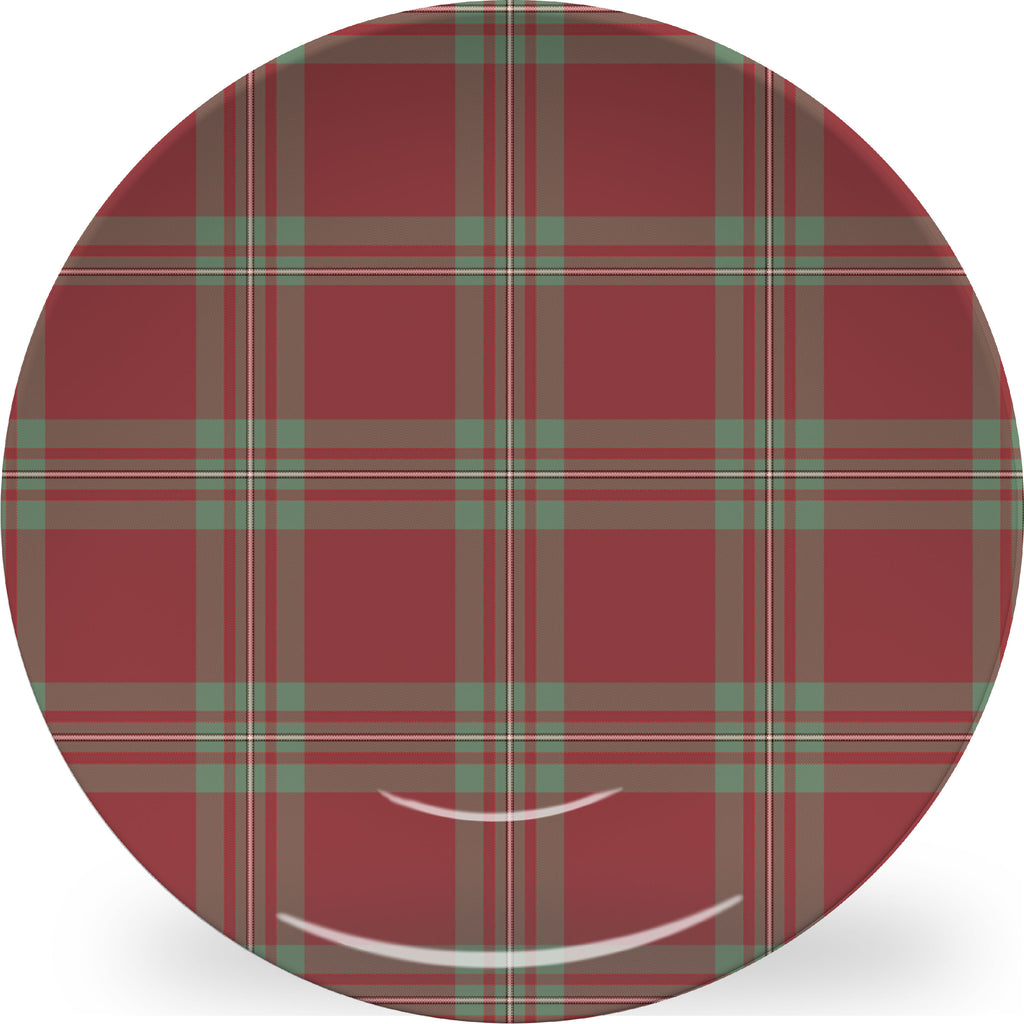 Luxury MacGregor Hunting Tartan Plaid ThermoSāf® Plate And Platter With Optional Monogram - Oven Safe, Microwave Safe, Dishwasher Safe, BPA Free!