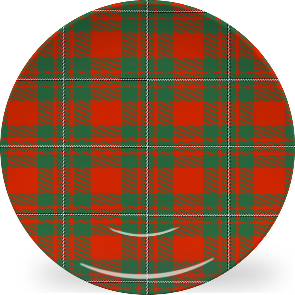 Luxury MacGregor Tartan Plaid ThermoSāf® Plate, Platter And Bowl With Optional Monogram - Oven Safe, Microwave Safe, Dishwasher Safe, BPA Free!