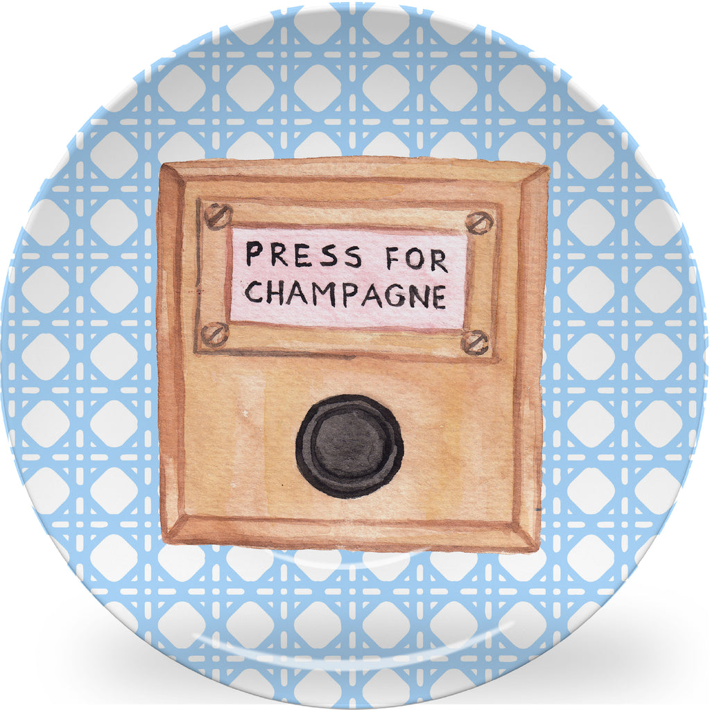 Luxury Press For Champagne ThermoSāf® Plate and Platter - Oven Safe, Microwave Safe, Dishwasher Safe, BPA Free!