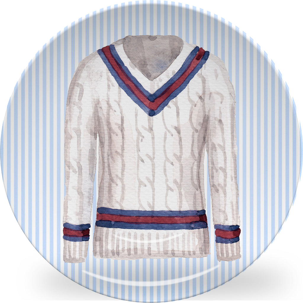 Luxury Tennis Sweater ThermoSāf® Plate And Platter - Oven Safe, Microwave Safe, Dishwasher Safe, BPA Free!