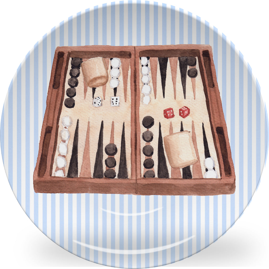 Luxury Backgammon ThermoSāf® Plate and Platter - Oven Safe, Microwave Safe, Dishwasher Safe, BPA Free!