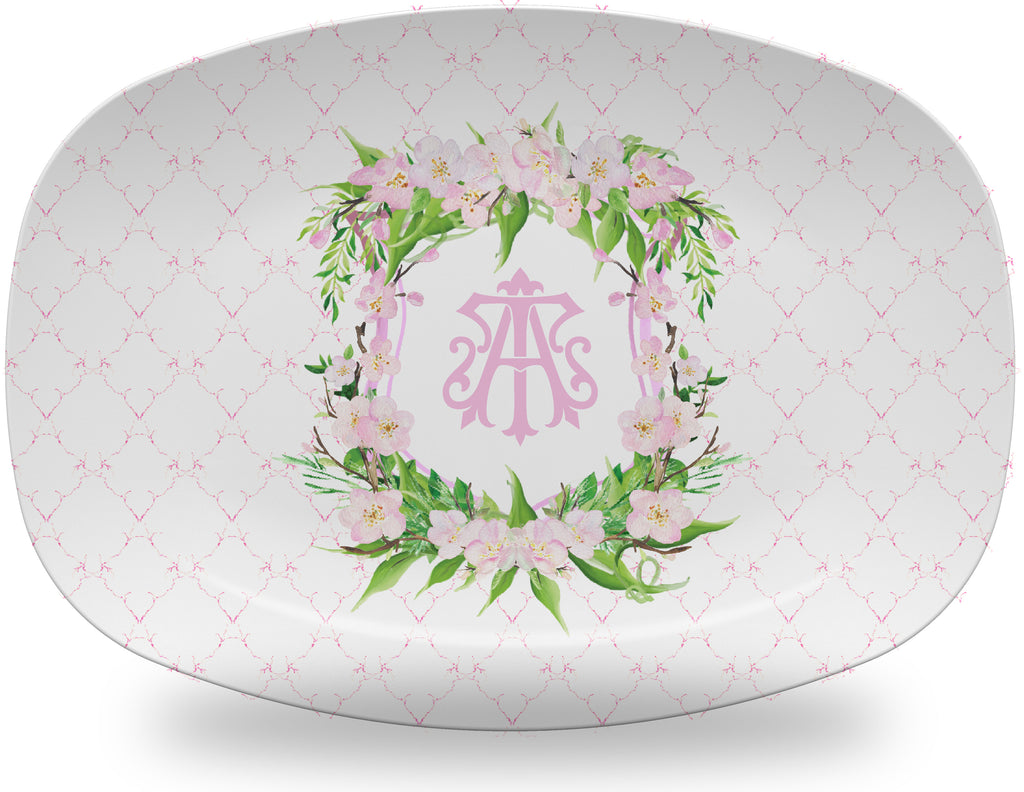 Luxury Georgetown Monogrammed Crest ThermoSāf® Plate and Platter - Oven Safe, Microwave Safe, Dishwasher Safe, BPA Free!