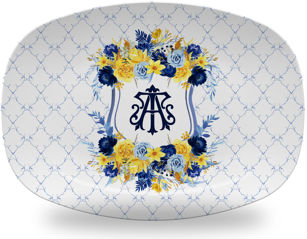 Luxury Rye Monogrammed Crest ThermoSāf® Plate, Platter And Bowl - Oven Safe, Microwave Safe, Dishwasher Safe, BPA Free!