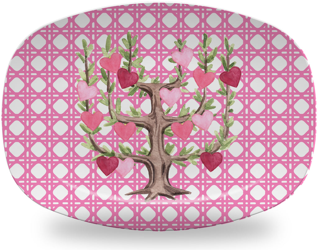 Luxury Espaliered Hearts ThermoSāf® Plate and Platter - Oven Safe, Microwave Safe, Dishwasher Safe, BPA Free!