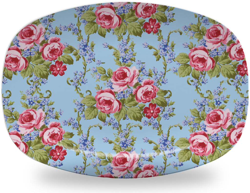 Luxury Gillian's Garden ThermoSāf® Plate, Platter And Bowl - Oven Safe, Microwave Safe, Dishwasher Safe, BPA Free!