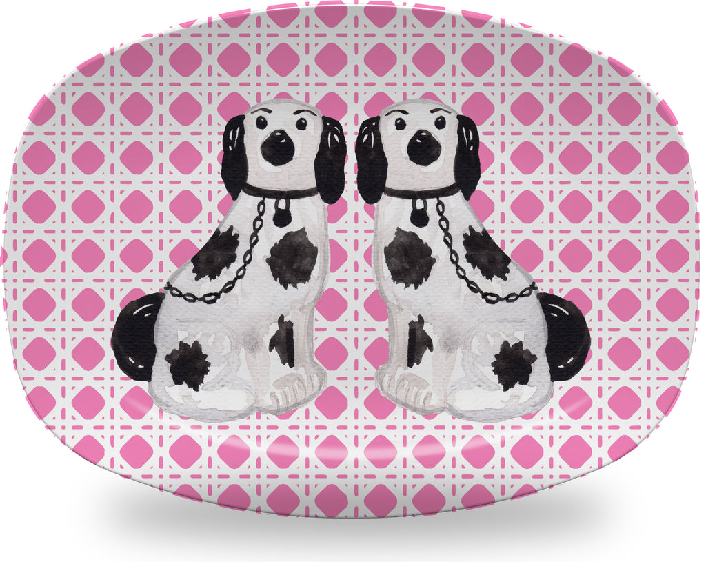 Luxury Harry Staffordshire Pair ThermoSāf® Plate and Platter - Oven Safe, Microwave Safe, Dishwasher Safe, BPA Free!