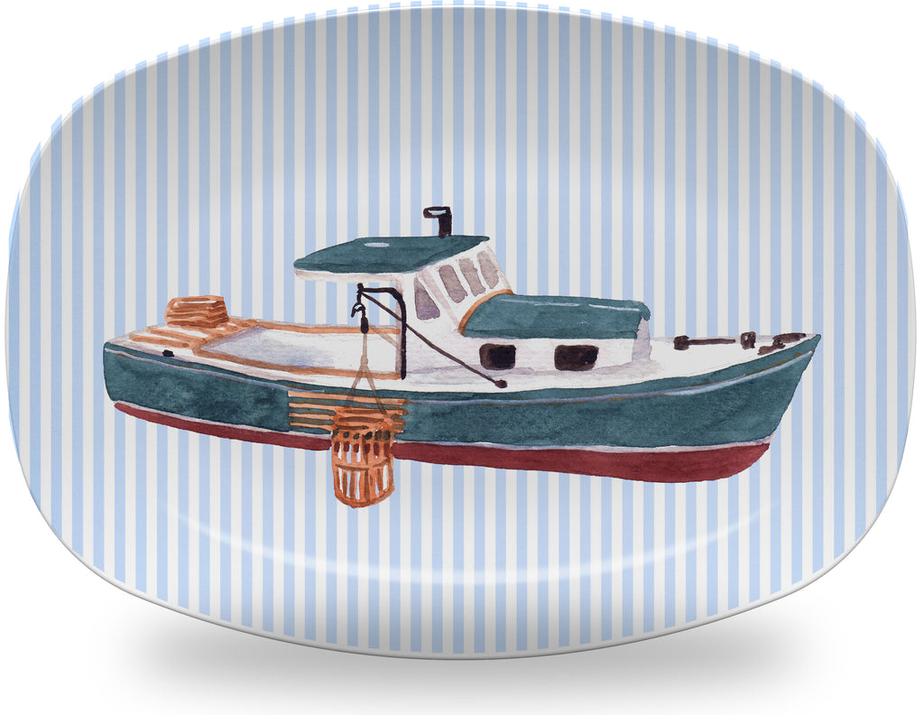 Luxury Lobster Boat ThermoSāf® Plate And Platter - Oven Safe, Microwave Safe, Dishwasher Safe, BPA Free!